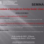 """Seminário """"Universidade e formação em Serviço Social: crises e lutas"""""""