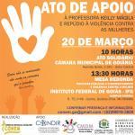 CRESS Goiás apoia ato do CONEM de repúdio à violência contra a mulher