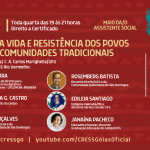 """Live dia 12 de maio debate """"Trabalho pela vida e resistência dos povos originários e comunidades tradicionais"""""""