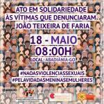 """Participe do ato em solidariedade às vítimas que denunciaram """"João de Deus"""""""