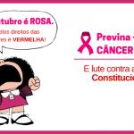 Outubro é Rosa. Luta pelos direitos das mulheres é Vermelha