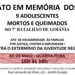 CRESS Goiás exige minuciosa apuração do incêndio que causou a morte de 9 adolescentes, em Goiânia