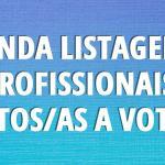 Segunda listagem de profissionais aptos/as a votar