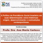 Seminário de Seguridade Social com Profa. Ana Maria Cartaxo