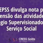 ABEPSS divulga nota pela suspensão das atividades de Estágio Supervisionado em Serviço Social