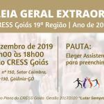 CRESS Goiás convoca Assembleia Geral Extraordinária