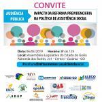 """Audiência pública: """"Impacto da Reforma Previdenciária na Política de Assistência Social"""""""