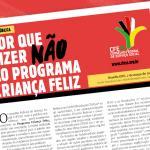 CFESS diz não ao Programa Criança Feliz