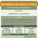 Mestrado em Serviço Social - Processo Seletivo Discente 2018