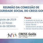 Comissão de Seguridade Social do CRESS Goiás tem reunião itinerante na SEMAS Goiânia