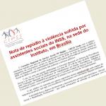 Nota de repúdio à violência sofrida por assistentes sociais do INSS, na sede do Instituto, em Brasília